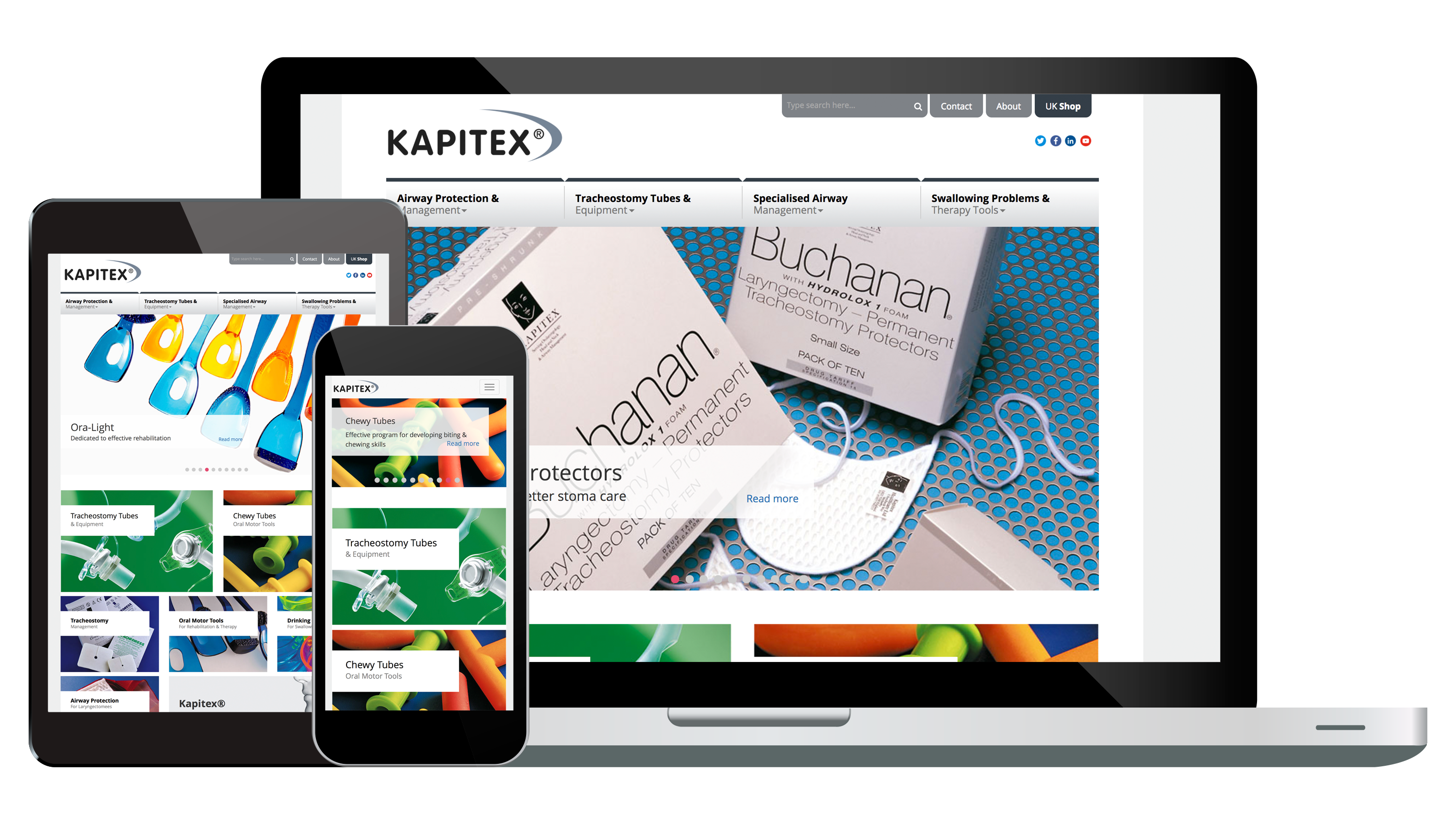 Overhaul to the Kapitex Healthcare Limited website.